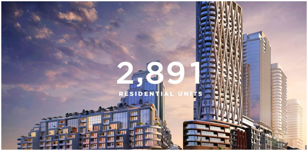 2,891 new residential units